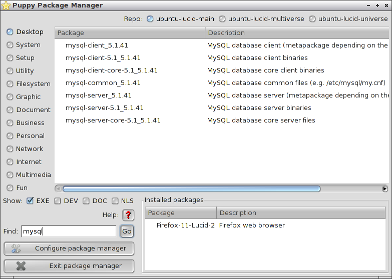 install mysql server