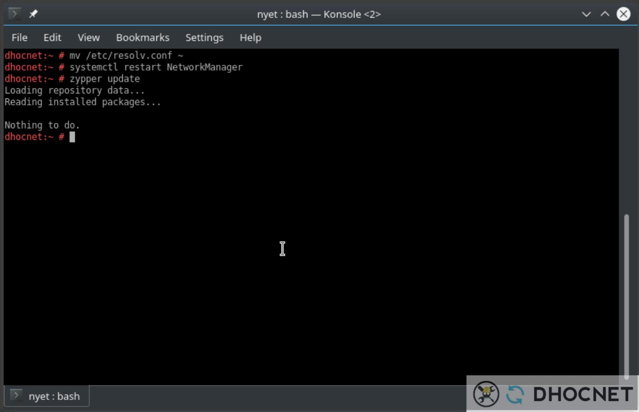 Internet Bermasalah Setelah Update openSUSE Leap 42.3 ke 15.0