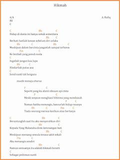 chord hikmah lagu dangdut a rafiq