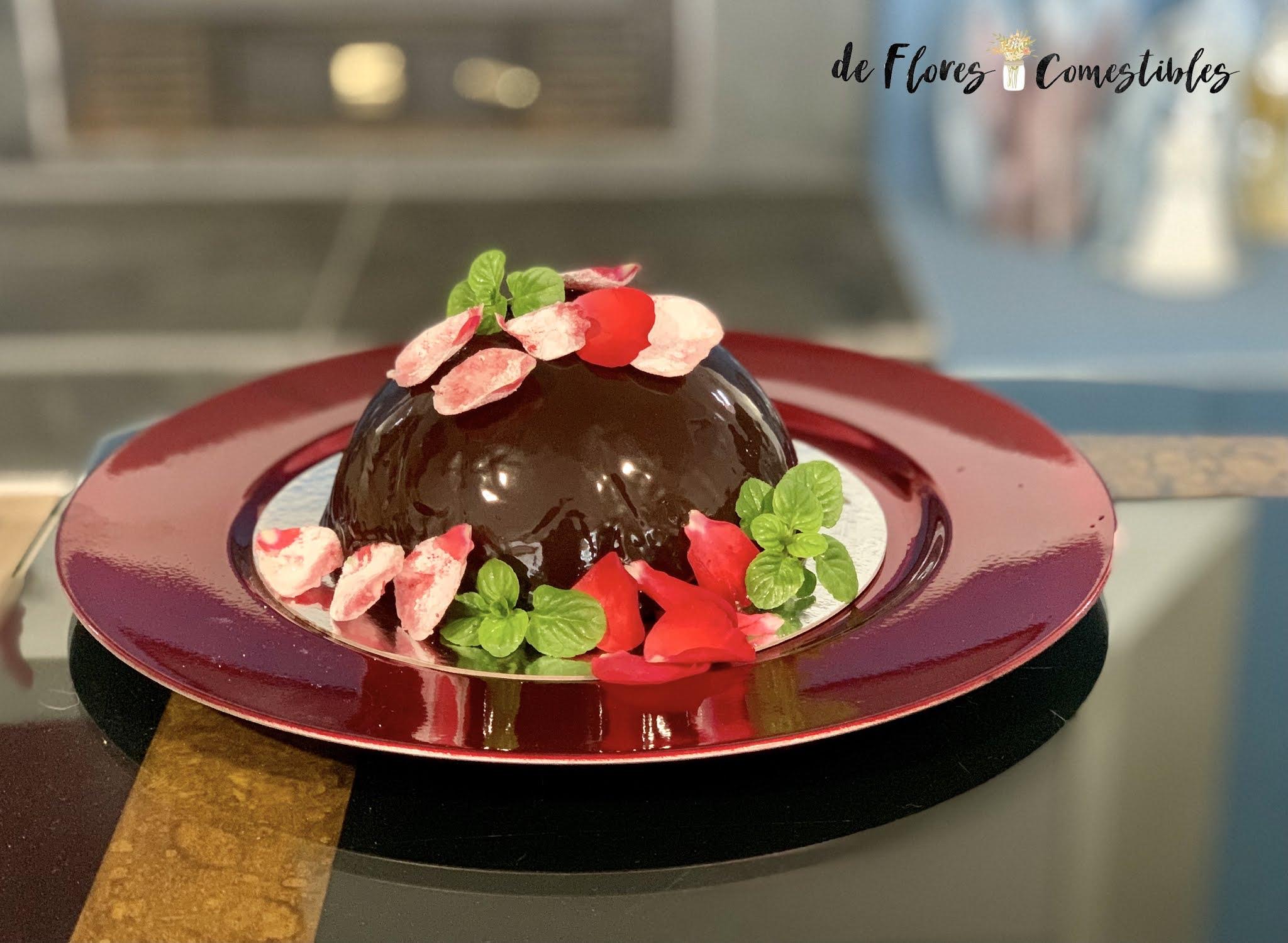 Tarta de maracuyá y chocolate sin bizcocho
