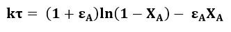 Ecuación de la constante cinética de reacción