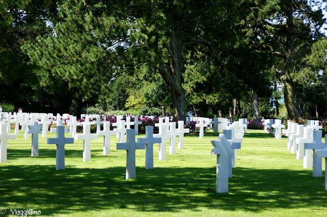 Campo di croci bianche del Cimitero di Colleville-sur-mer