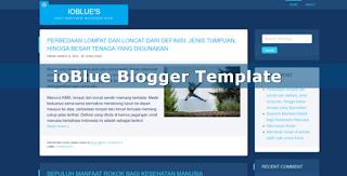ioBlue Blogger Template