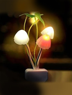 Mushroom light, sensor light, bed room light, romantic bed room light