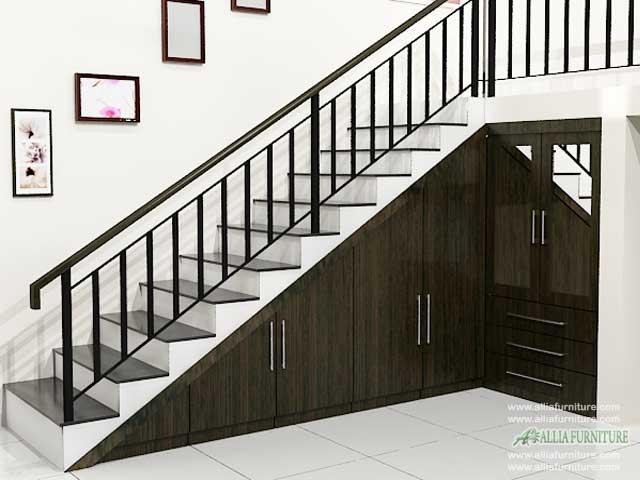 lemari bawah tangga minimalis dallas