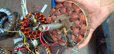 Ceiling fan stator winding data  14+14 coil winding data