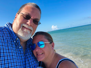 David Brodosi and wife on the beach in Mexico