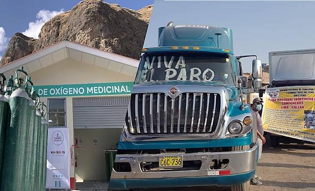 Paro de transportistas impide el traslado de oxígeno medicinal