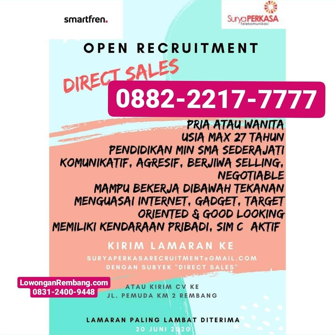 Lowongan Kerja Direct Sales Smartfren Rembang