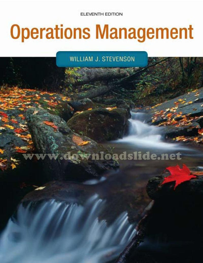 Ebook Operations Management 11th Edition by Stevenson