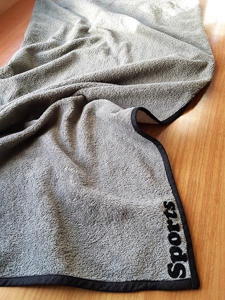 Sporthandtuch aus grauem Frottee