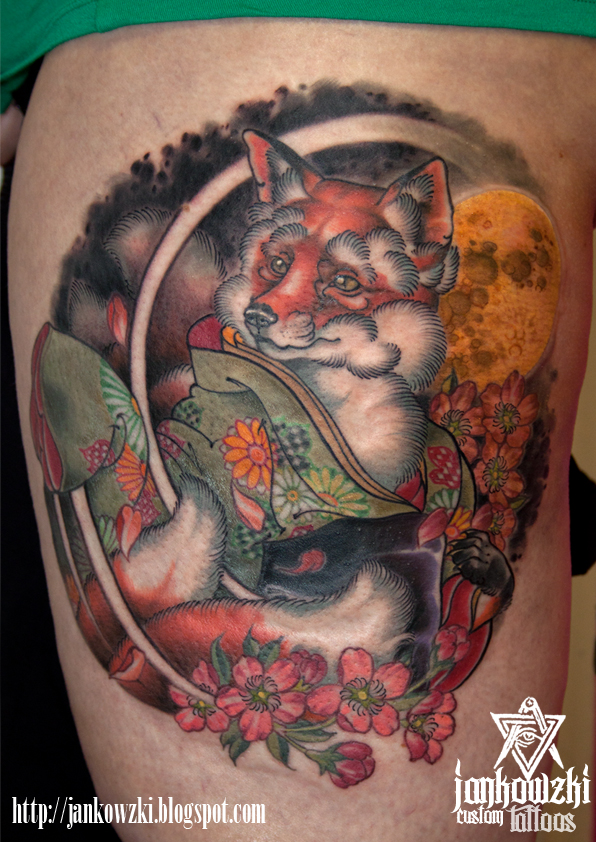 Traditional Kitsune Tattoo: Jankowzki Custom Tattoos: Kitsune