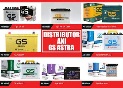 distributor aki mobil dan aki motor GS Astra