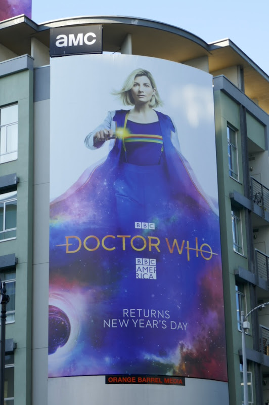 Jodie Whittaker Doctor Who season 12 billboard