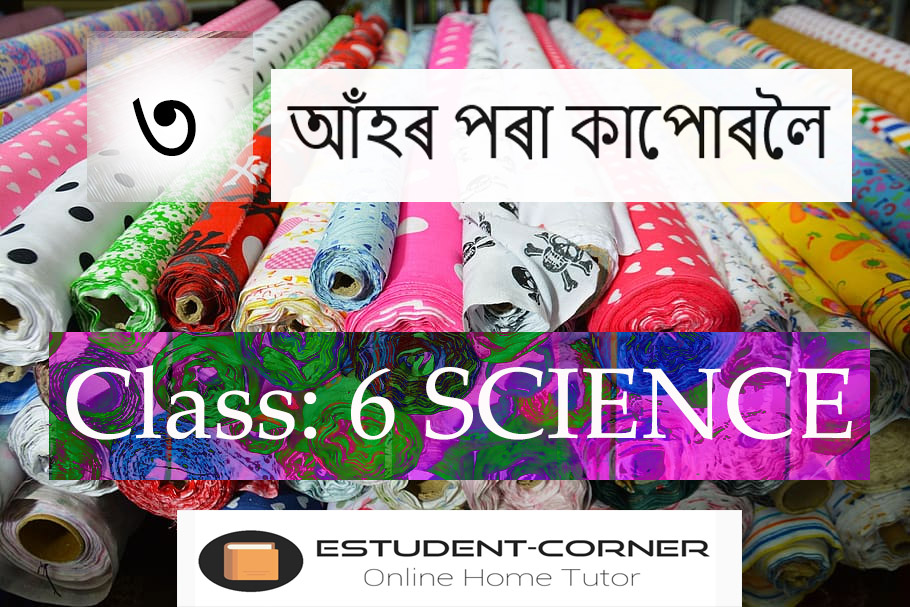 আহঁৰ পৰা কাপোৰলৈ, Lesson 3, Class 6, Science, Assamese Medium Solutions, SCERT
