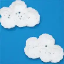 Aplique Nube a Crochet