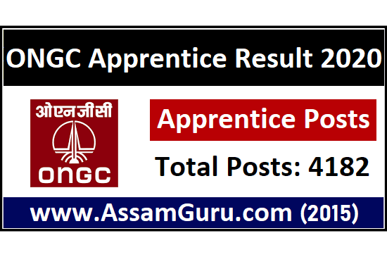 Result of ONGC Apprentice