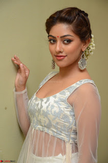 Anu Emmanuel in a Transparent White Choli Cream Ghagra Stunning Pics 073.JPG