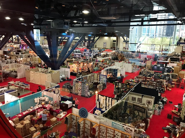 view of the vendors at International Quilt Festival Houston 2019
