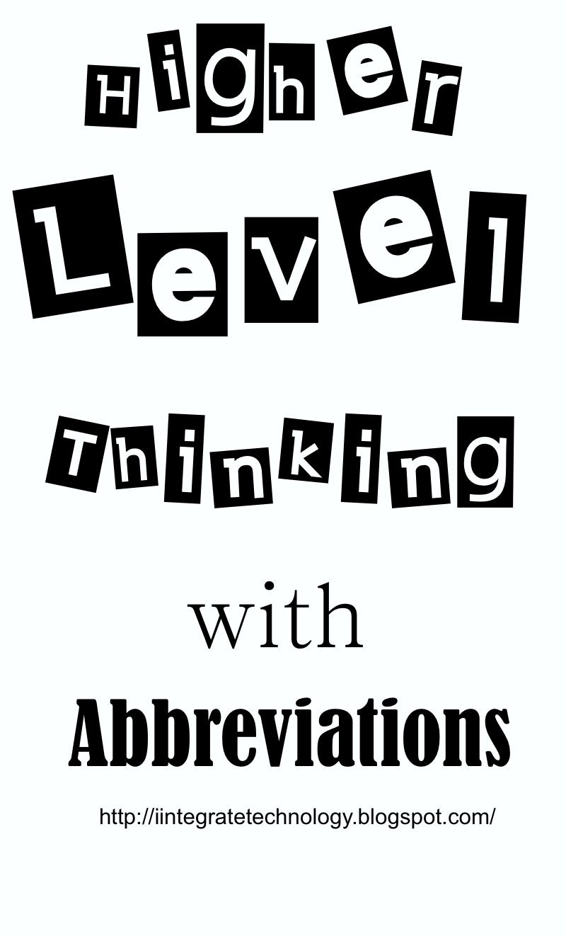iintegratetechnology: Abbreviation Freebie, Abbreviation