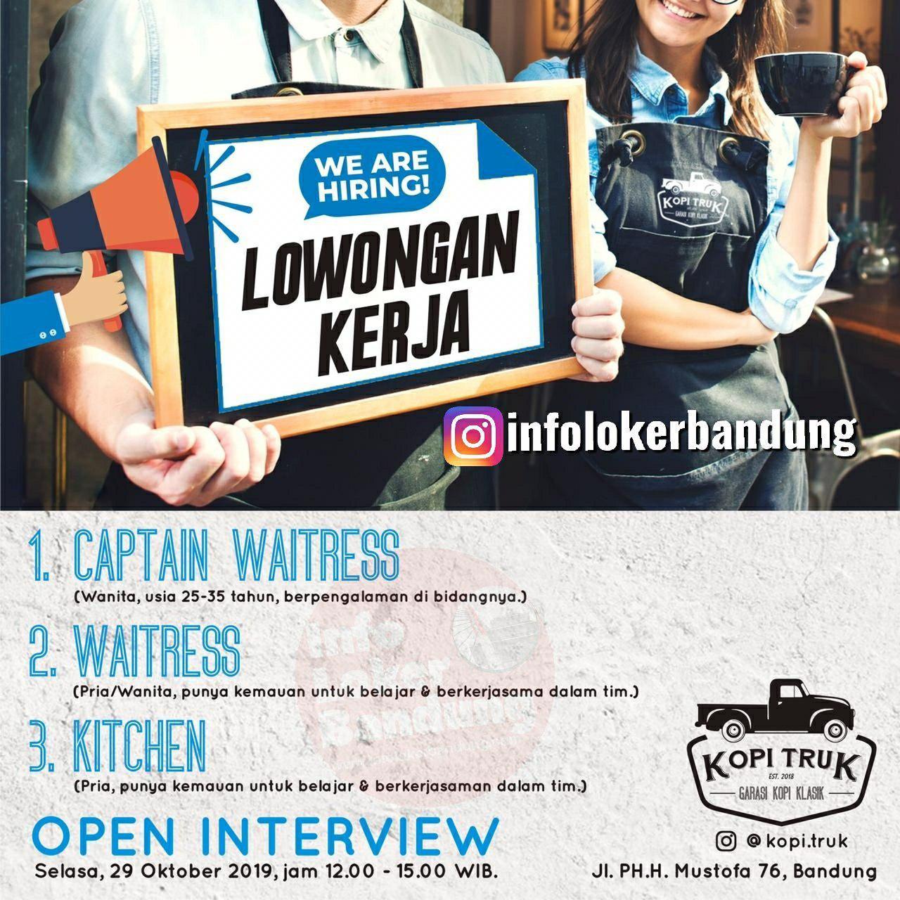 Walk In Interview 29 Oktober 2019 Kopi Truck Bandung