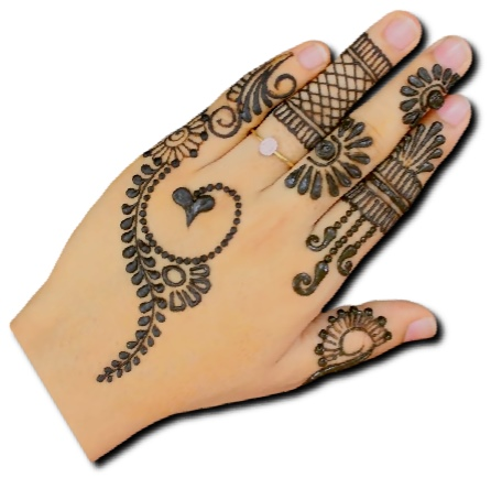 Back Hand Mehndi Design for Festivals