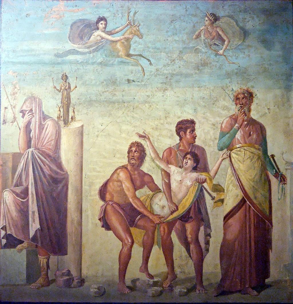 Resultado de imagen de sacrificio ifigenia pompeya