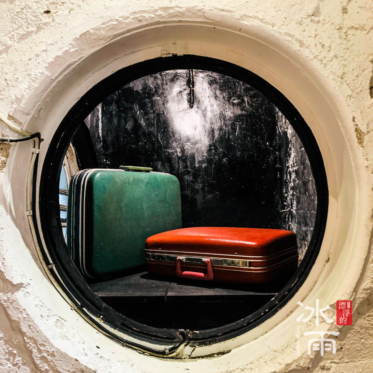 像是郵輪內的窗戶,超級圓