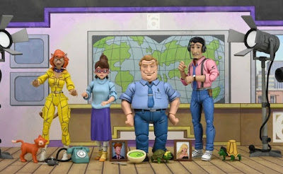 San Diego Comic-Con 2021 Exclusive Teenage Mutant Nunja Turtle Channel 6 Newsroom 4 Pack & Accessory Bundle by NECA