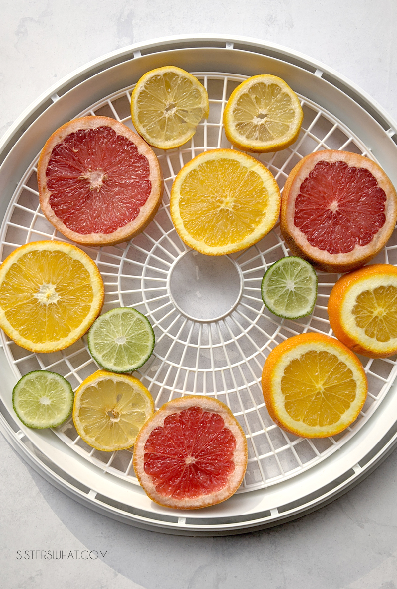 how to dry citrus slices for Christmas decorations