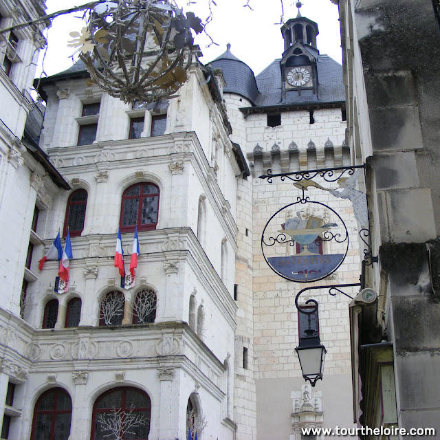 Town hall and Porte Picois, Loches, Indre et Loire, France. Photo by Loire Valley Time Travel.