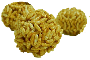 Popular Bihari sweet Laai for the festival of Makar Sakaranti|. Murmura ka laddu.