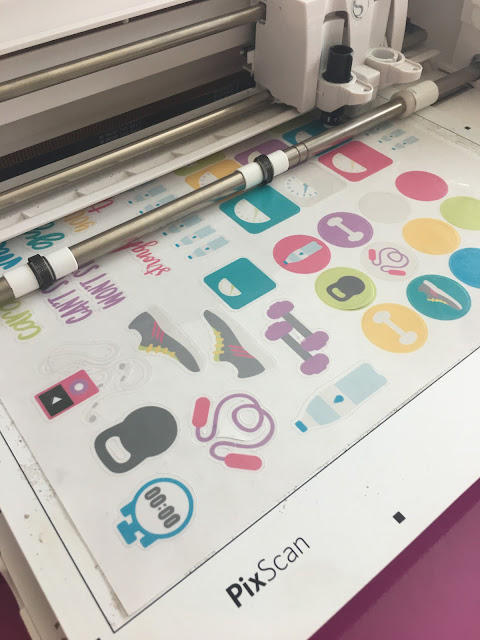 Print and Cut, Planner stickers, pixscan mat, silhouette pixscan, pixscan