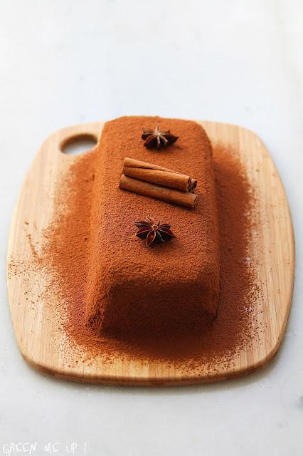 bûche Noël chocolat noisette butternut patate douce