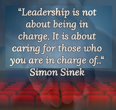 Simon Sinek: Leadership is not about being in charge. It is about caring for those who you are in charge of.. - Quotes