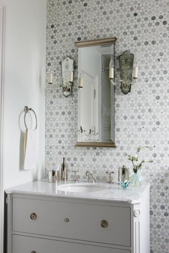 Savvy Southern Style Tiled Vanity Walls