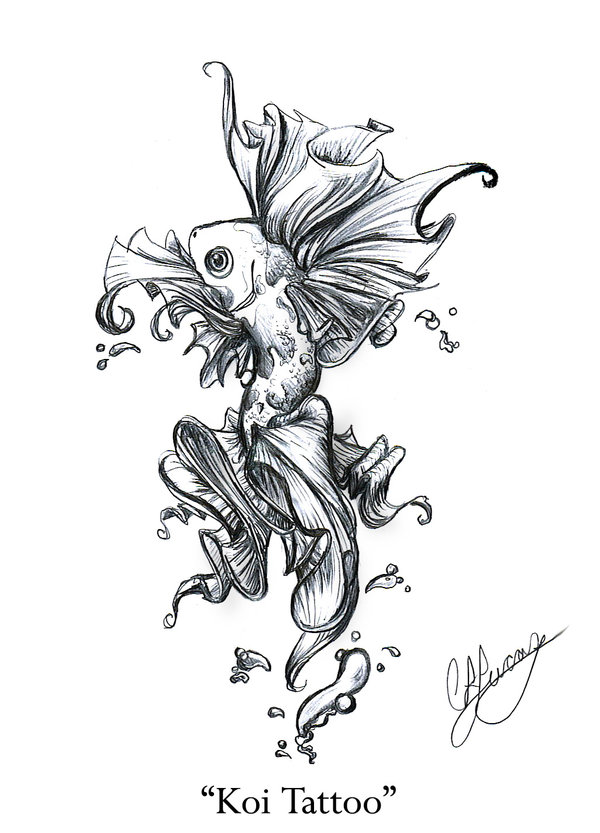 koi fish tattoo design
