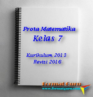 Download Prota Matematika Kelas 7 Kurikulum 13 Revisi 2016