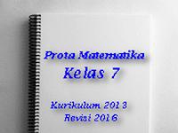 Download Prota Matematika Kelas 7 Kurikulum 13 Revisi 2016