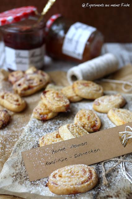 Experimente aus meiner Küche: Konfitüre-Schnecken [Weihnachtsbäckerei]