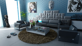 Metallic wall decor