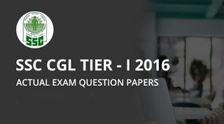 ssc cgl tier-i 2016 question papers
