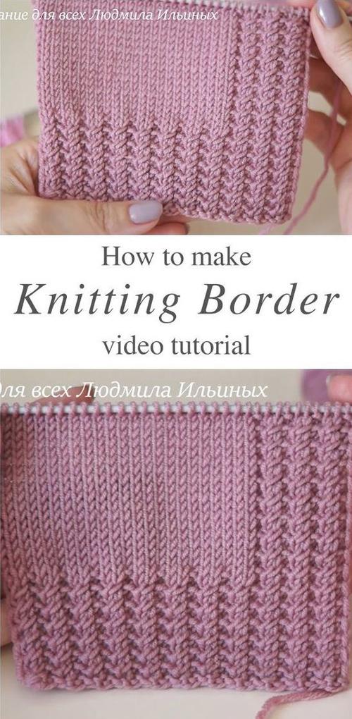 Easy Knitting Border - Tutorial