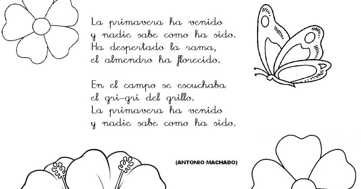 Poesia La Primavera Ha Venido Antonio Machado - Colección de Poesía