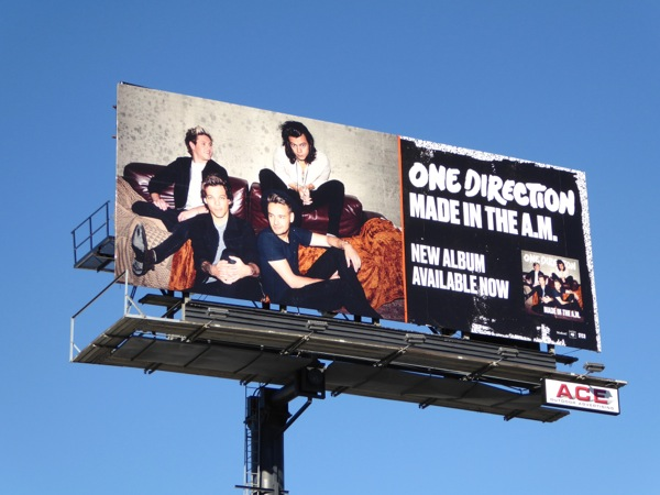 One Direction Made in the AM album billboard