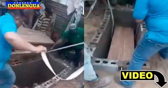 OTRO | Entierran a un hombre en el patio de su propia casa en el Zulia por falta de recursos