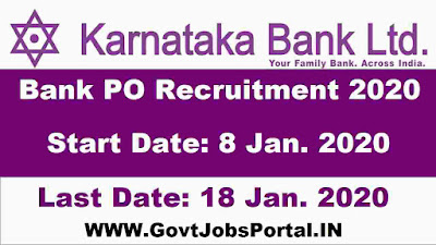 Karnataka Bank PO Recruitment Notification 2020
