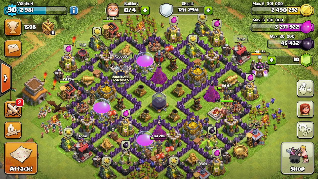 Base Coc Th 8 Max 10