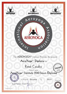 diplôme aero yoga