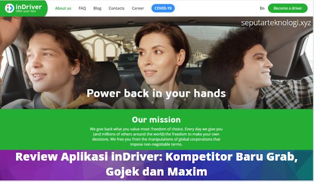 Review Aplikasi inDriver: Kompetitor Baru Grab, Gojek dan Maxim